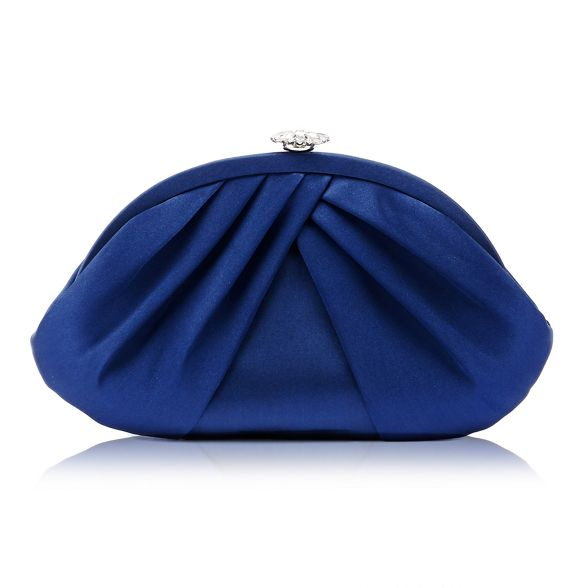 diamante bag trim Debut flower clutch Navy Px1FFf