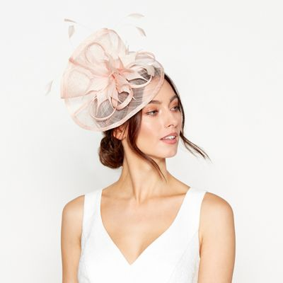 Debut - Light pink feather fascinator 57568d9a6a9