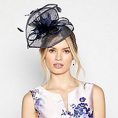 Debut - Navy feather fascinator