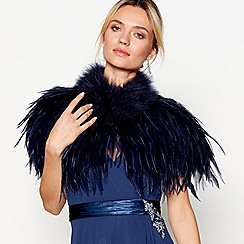 No. 1 Jenny Packham - Navy feather shrug