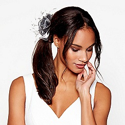 Debut - Metallic grey organza flower fascinator