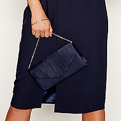 Debut - Navy pleated envelope clutch bag