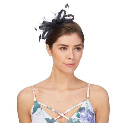 aaaa2c428a7b4 Principles Navy feather fascinator