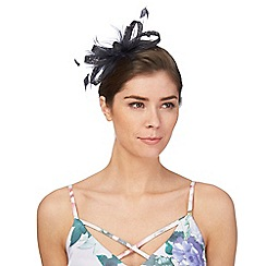 Principles by Ben de Lisi - Navy feather fascinator