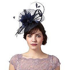 Principles - Navy flower beaded embellished fascinator