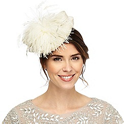 Principles - White feather bow headband fascinator
