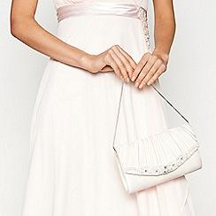 No. 1 Jenny Packham - Ivory stone embellished clutch bag