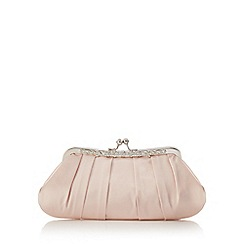 No. 1 Jenny Packham - Light pink satin diamante clutch bag