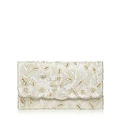 No. 1 Jenny Packham - Ivory sequin embellished clutch bag