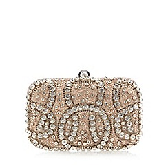 No. 1 Jenny Packham - Gold 'Glitz' embellished clutch bag