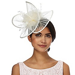 Star by Julien Macdonald - White pleated wave fascinator