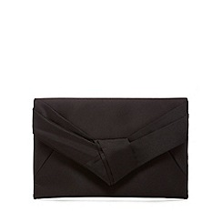 J by Jasper Conran - Black satin clutch bag