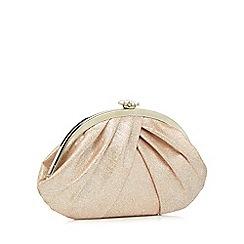 Debut - Pink gathered clutch bag
