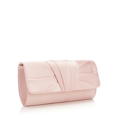 Debut   Pink Ruched Pleat Clutch Bag by Debut