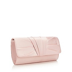Debut - Pink ruched pleat clutch bag
