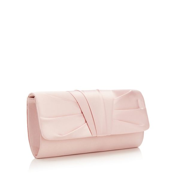 clutch Pink bag ruched Debut pleat tz0wq