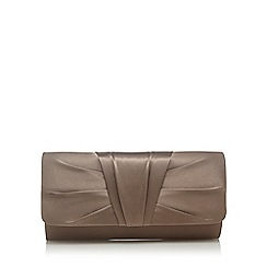 Debut - Gold ruched pleat clutch bag