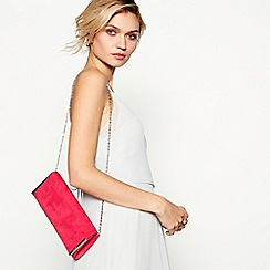 Debut - Bright pink clutch bag