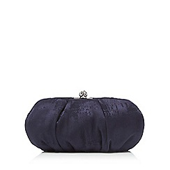 Debut - Navy jacquard clutch bag