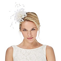 Debut - Ivory feather headband fascinator
