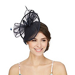 Debut - Navy disc fascinator