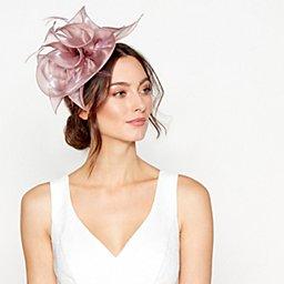 Debut - Pink large organza flower headband 08b92fb6aa4