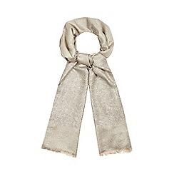 Debut - Metallic floral jacquard scarf