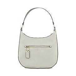J by Jasper Conran - Light grey zip detail saddle bag