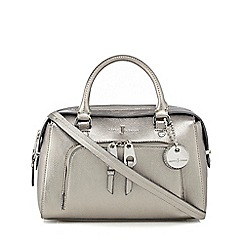 J by Jasper Conran - Metallic zip front small bowler bag