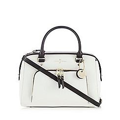 J by Jasper Conran - White colour block grab bag