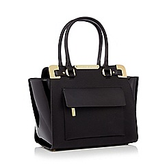 J by Jasper Conran - Black metal corner grab bag
