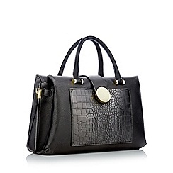 J by Jasper Conran - Black snakeskin effect insert large grab bag