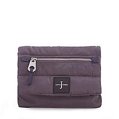 J by Jasper Conran - Grey quilted cross body bag