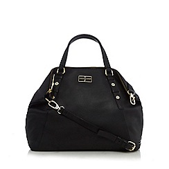 J by Jasper Conran - Black leather large tote bag