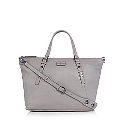 J by Jasper Conran - Grey leather large tote bag