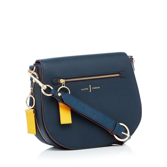 bag zip by Navy saddle front 'Richmond' J detail Jasper Conran 1PqwzRC