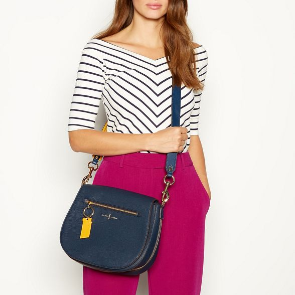 Conran detail 'Richmond' bag front zip saddle J Navy by Jasper UwOqOE
