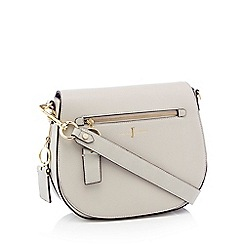 J by Jasper Conran - Grey 'Richmond' front zip detail saddle bag