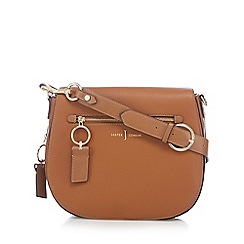 J by Jasper Conran - Brown 'Richmond' front zip detail saddle bag