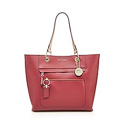 J by Jasper Conran - Rose front zip detail large tote bag