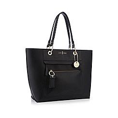 J by Jasper Conran - Black front zip detail tote bag