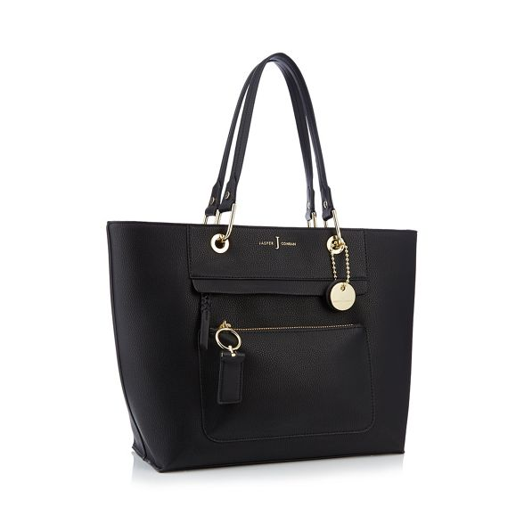 by Jasper zip Conran front detail bag Black tote J OqxawBn4dq