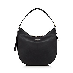J by Jasper Conran - Black leather scoop shoulder bag