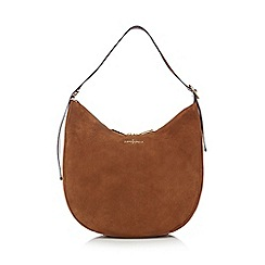 J by Jasper Conran - Tan suede scoop shoulder bag