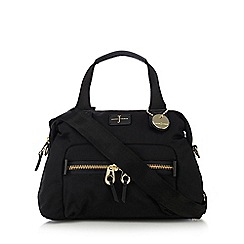 J by Jasper Conran - Black zip detail bowler bag