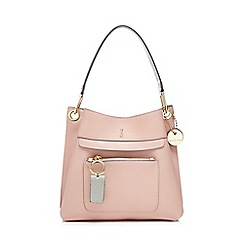 J by Jasper Conran - Pink front zip detail small shoulder bag