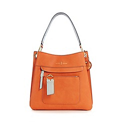 J by Jasper Conran - Orange front zip detail small shoulder bag