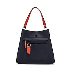 J by Jasper Conran - Navy front zip detail shoulder bag