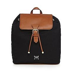 Principles - Black nylon backpack