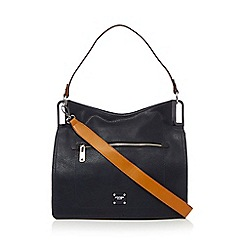 Principles - Navy metal corner shoulder bag
